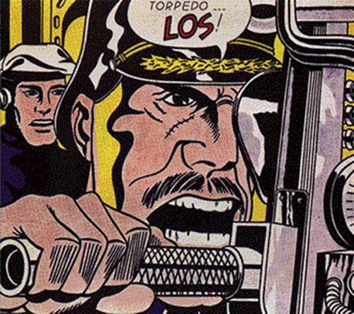 Roy Lichtenstein, Torpedos Los!, 1963, Pop art, 173.4 cm × 204 cm (68.3 in × 80 in) LocationPrivate collection