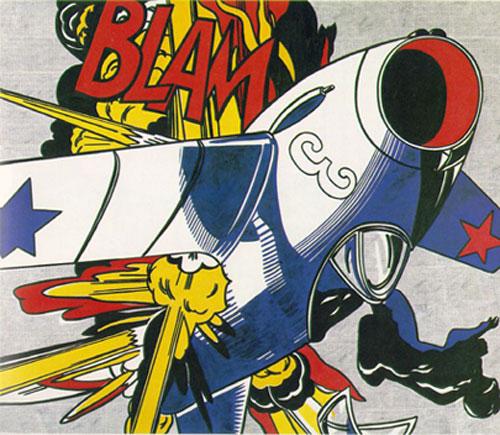 Roy Lichtenstein, Whaam, 1963, Pop art, acrylic and oil on canvas,170 cm × 400 cm (67 in × 160 in), Tate Modern, London
