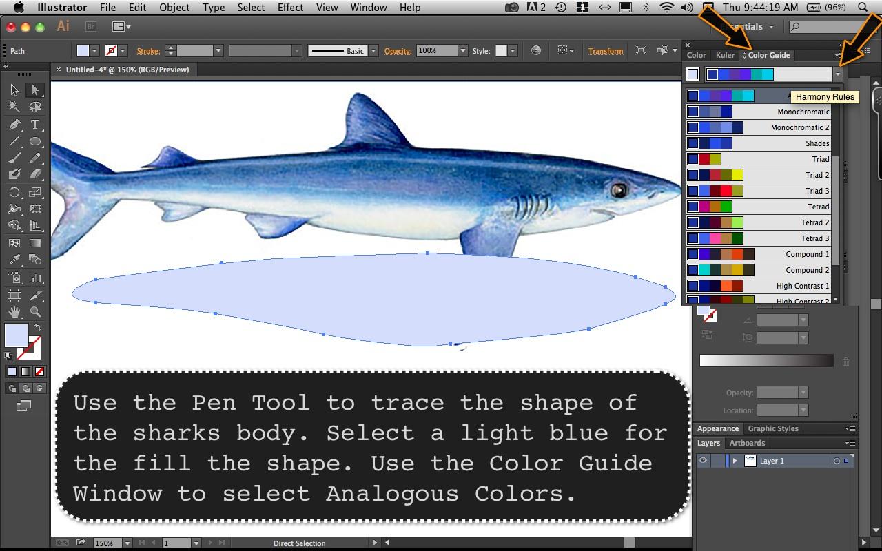 Mako Shark Step 1