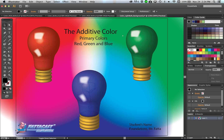 Color Bulbs Light Step 10