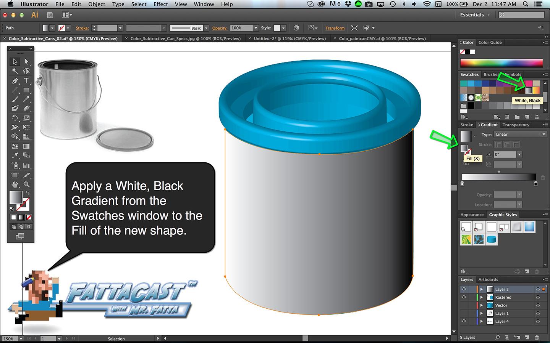 Subtractive Color Cans Step 12