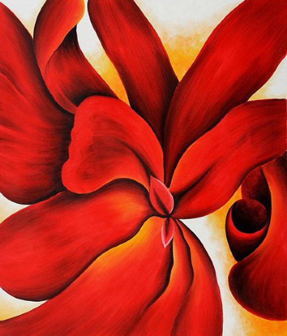 Okeeffe-red-cannas