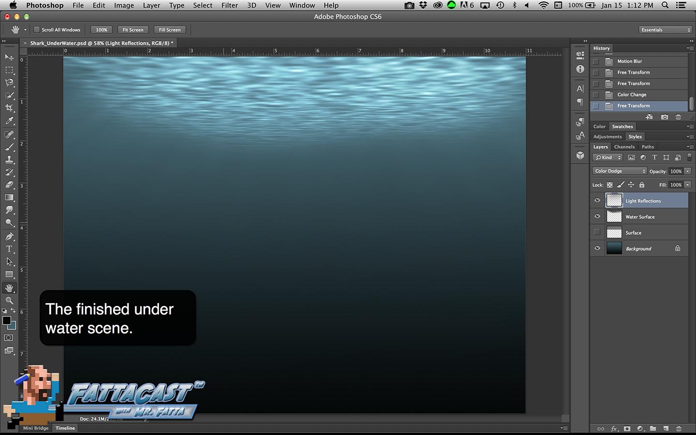 Under Water Scene Step 15