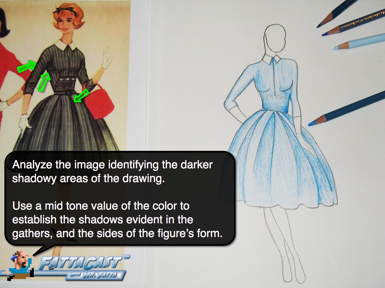 Drawing a Dior Design Step 5