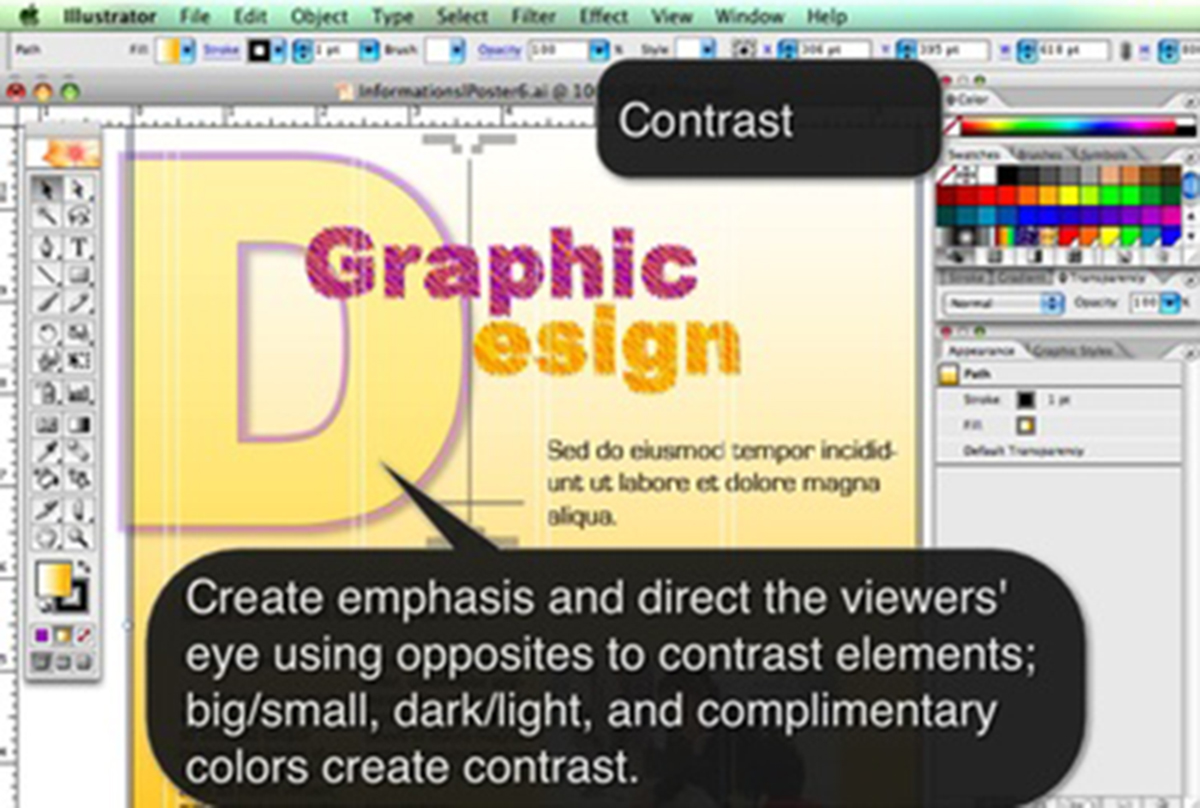 Graphic Design Principle Contrast