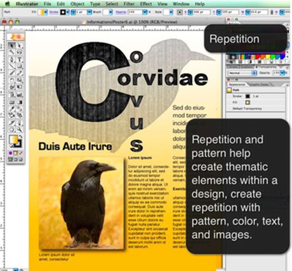 Graphic Design Principles Repetition