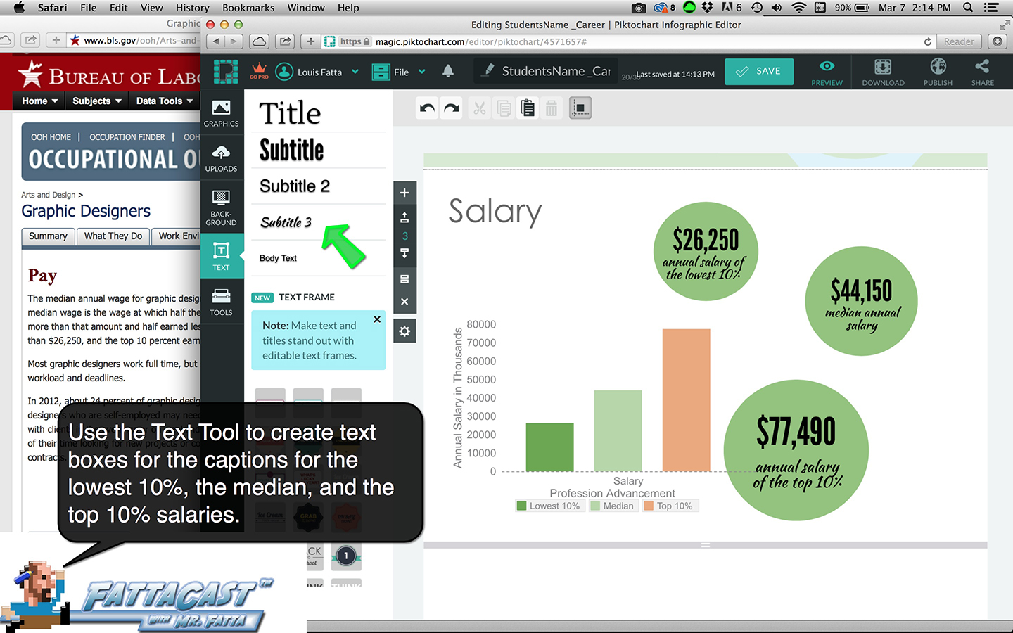 Pictochart Salary Scale Data Step 6