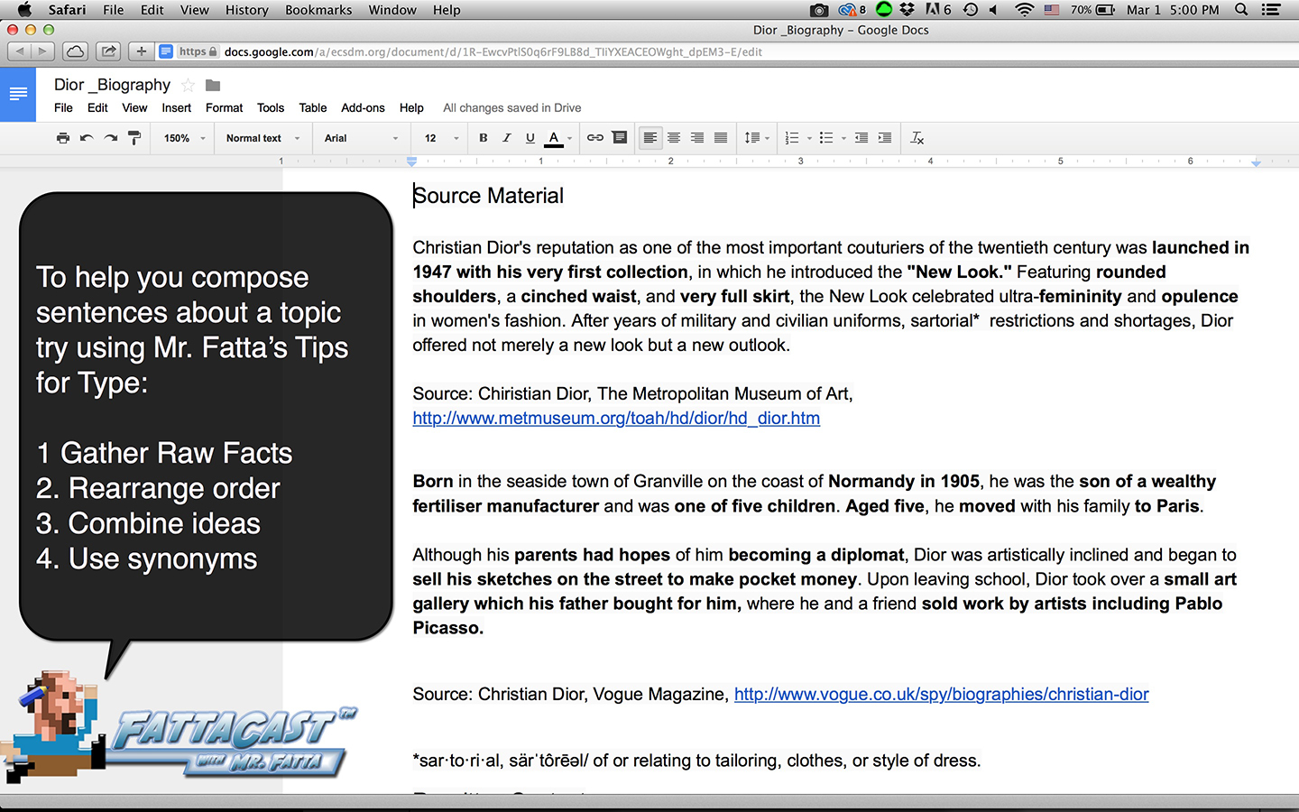 Writing from source tip 1