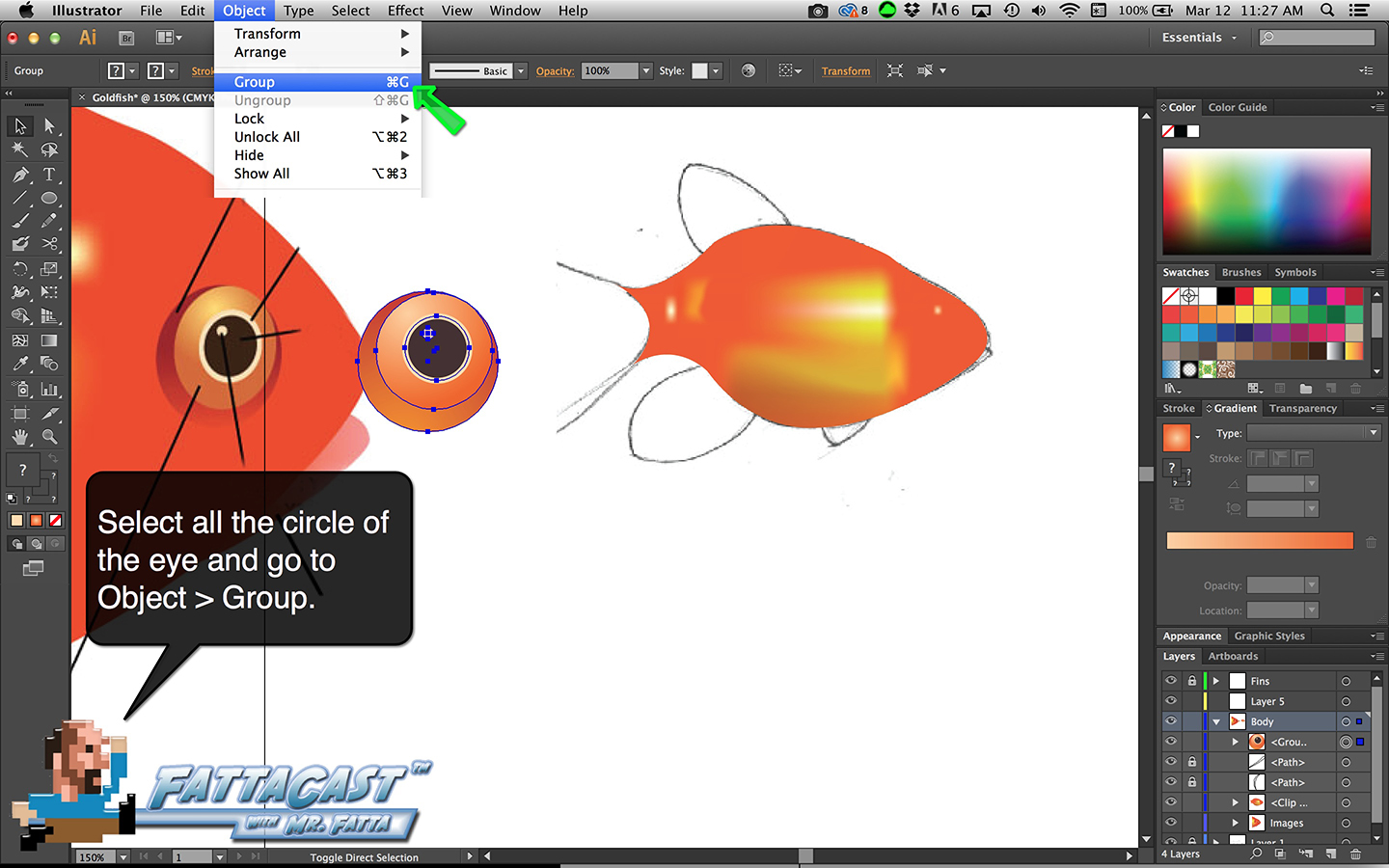 Goldfish Step 17