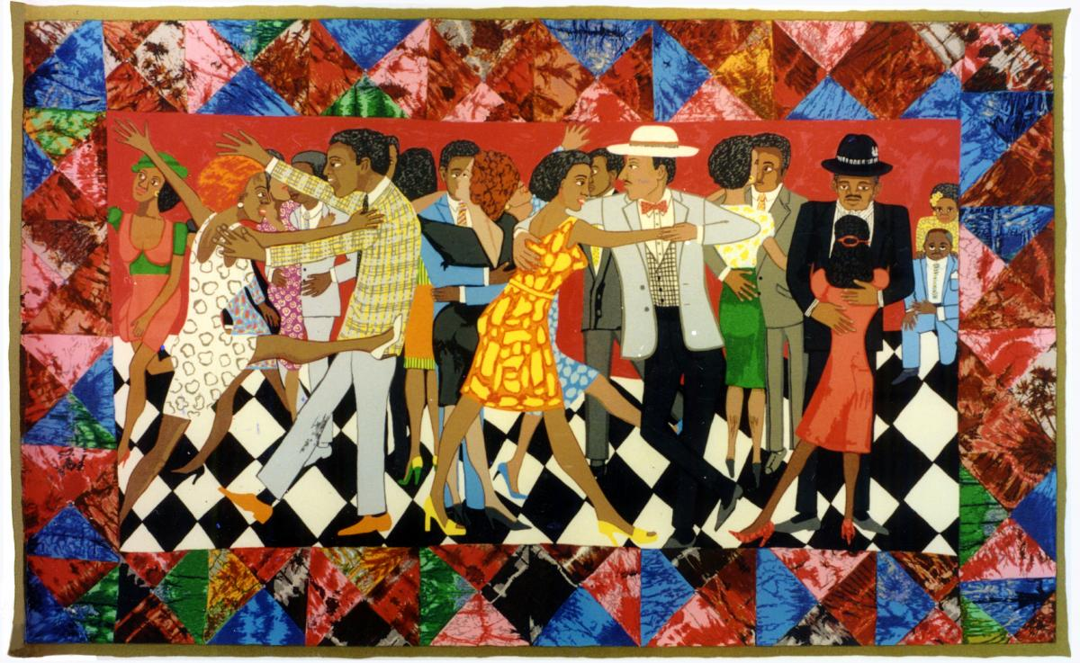 Faith Ringgold, Groovin High, 1996, Silkscreen, Courtesy of ACA Galleries, New York