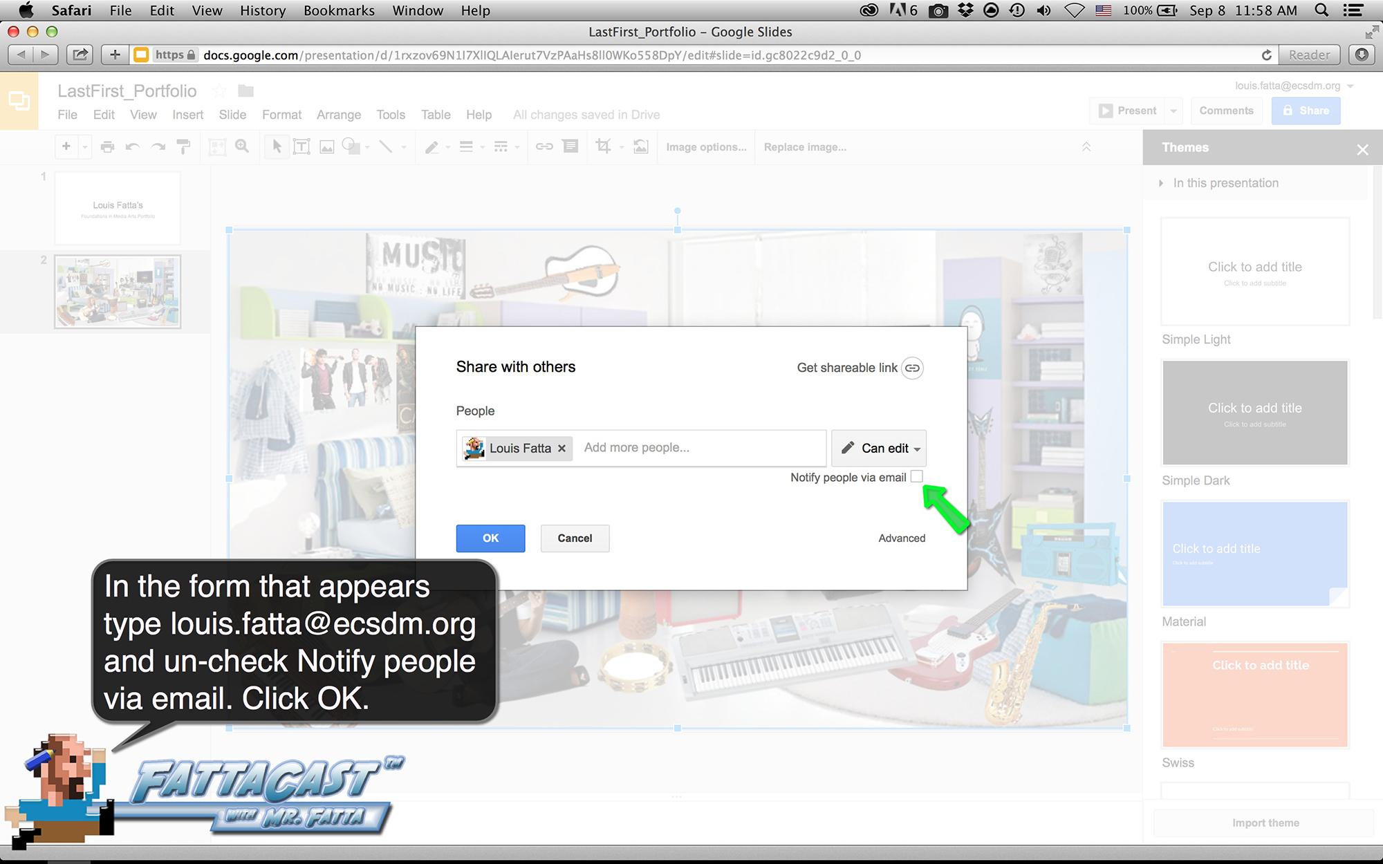 Google Slides Step 9
