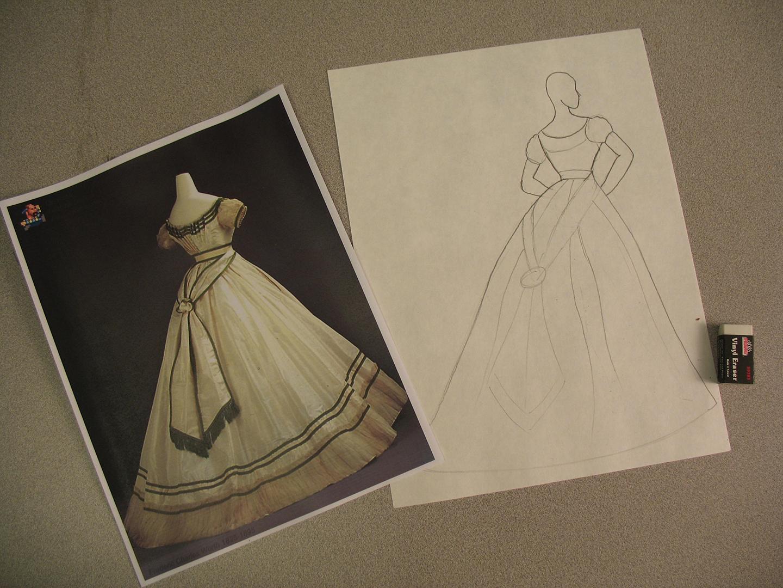 Step 5 - Lightly sketch in details