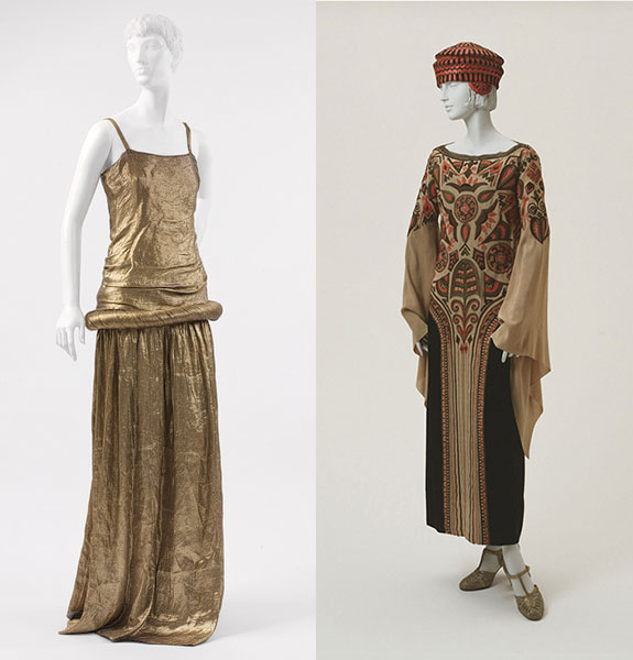 Poiret Gown and Afternoon Dress with Hat