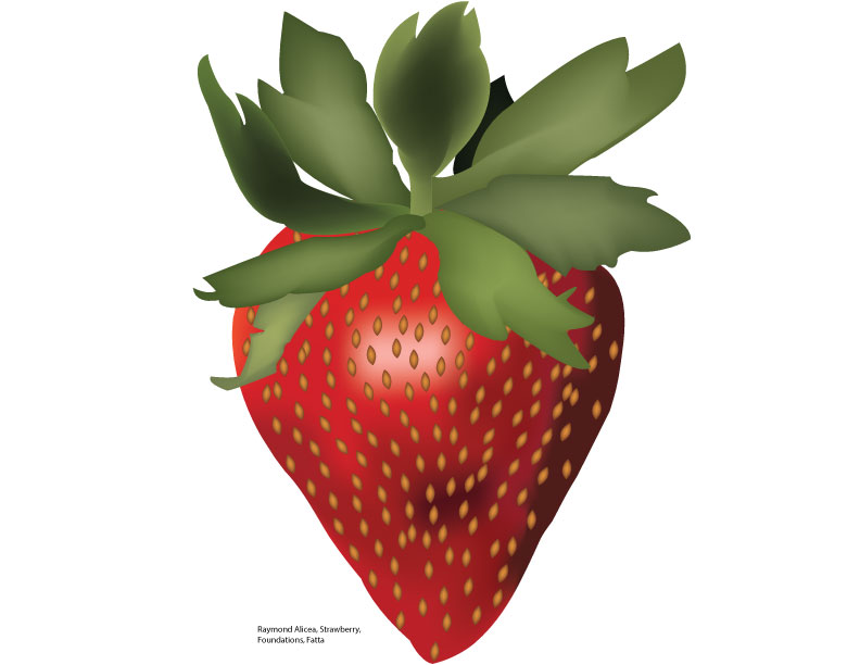 Strawberry Illustration by Raymond A.