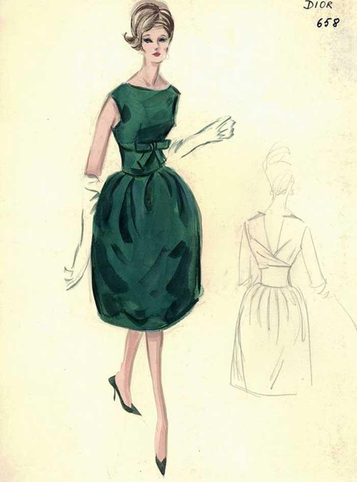 Dior_sketch_green