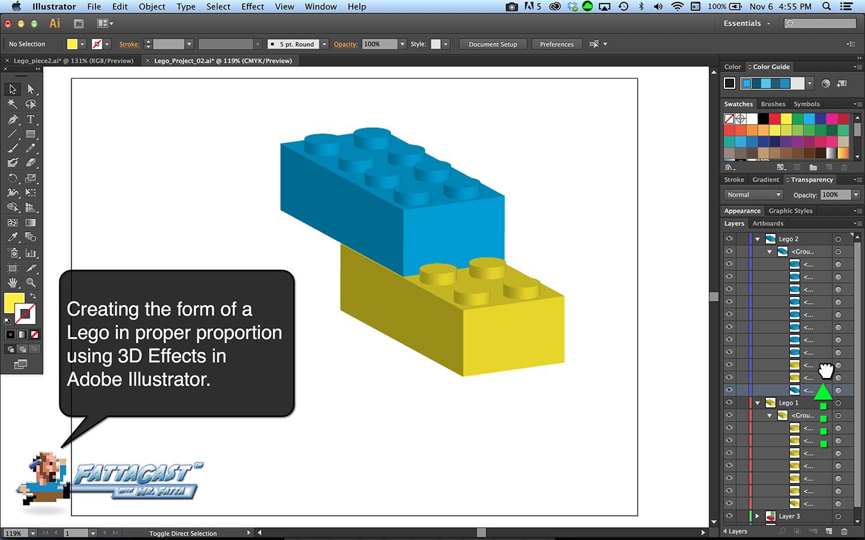Lego Block Step 1