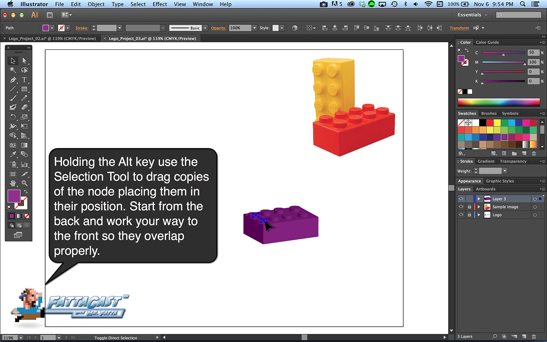 Lego Block Step 6