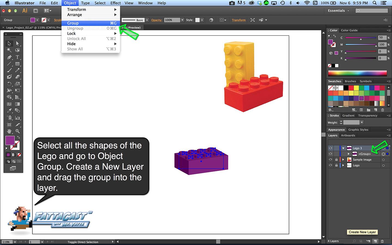 Lego Block Step 7