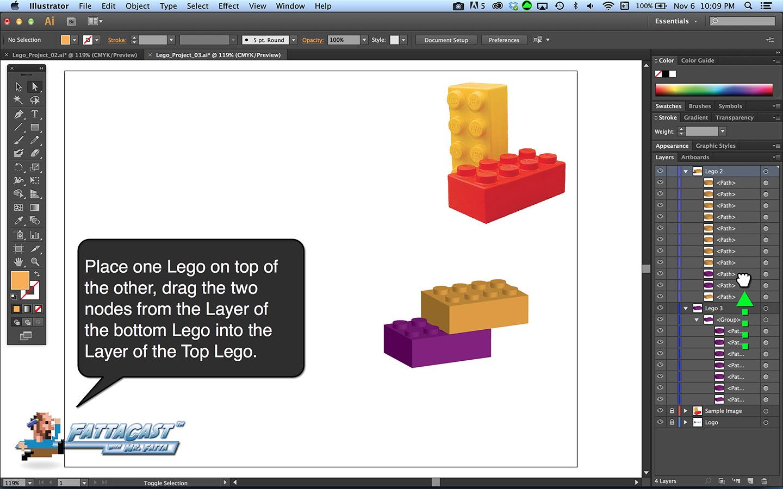 Lego Block Step 9