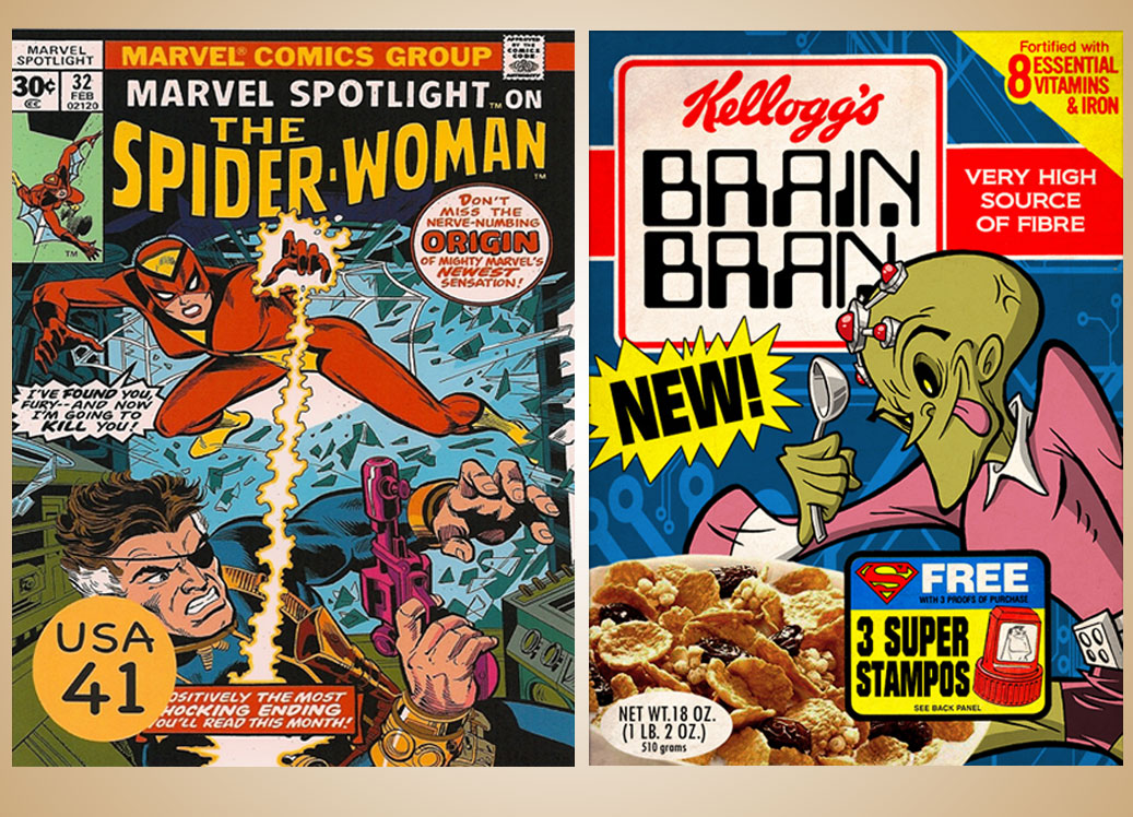 Comic Cereal Graphic Comparison