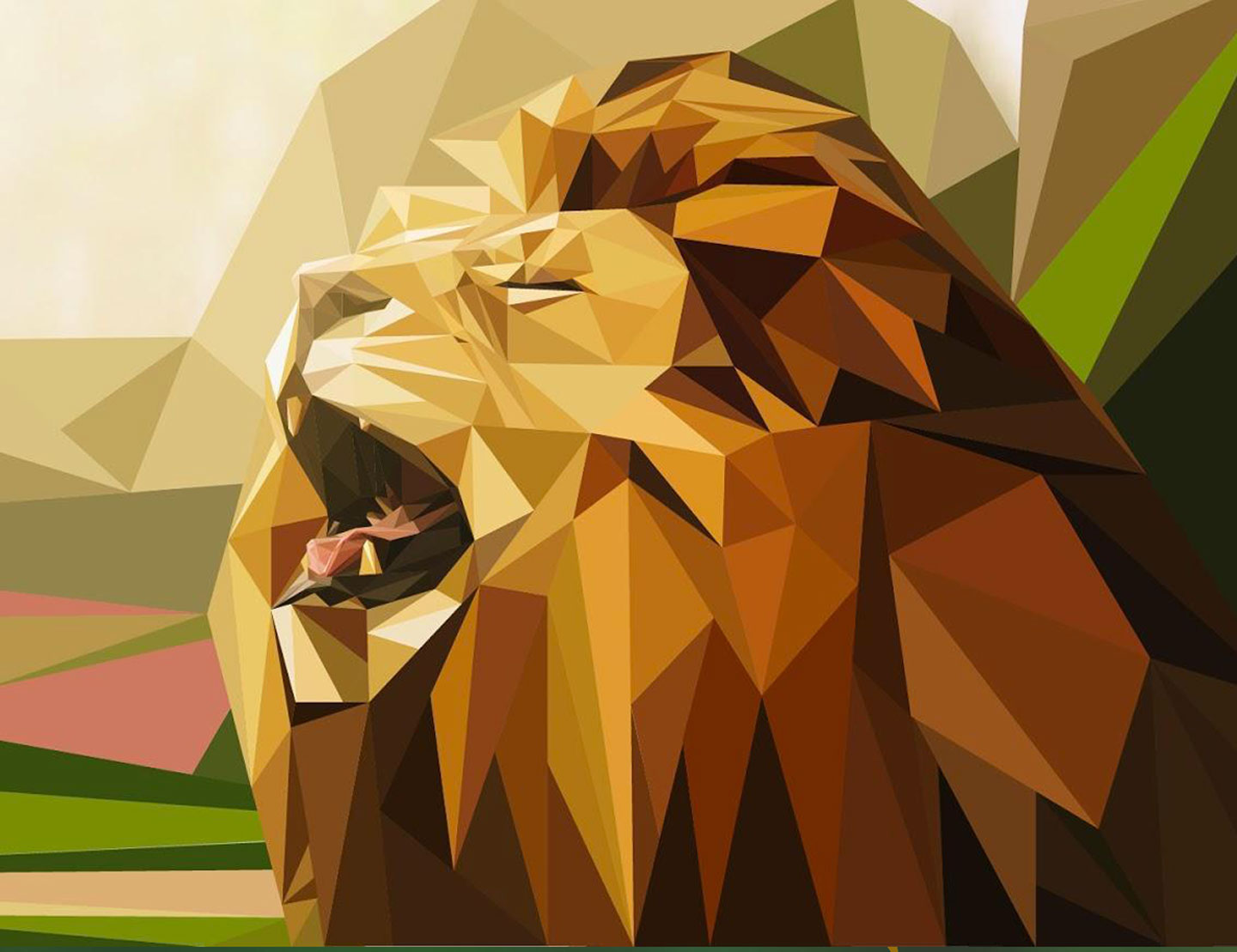Low_Poly_Lion_01