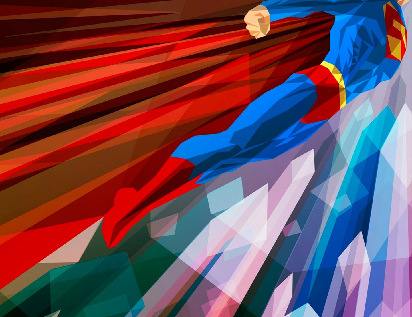 Low_Poly_Superman_01